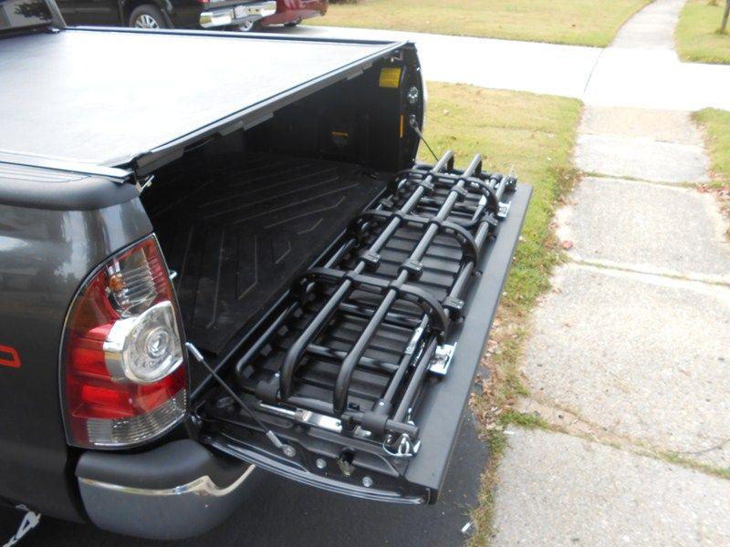 Fold Down Truck Bed Expander Black 4x4 Bumper Design Toyota