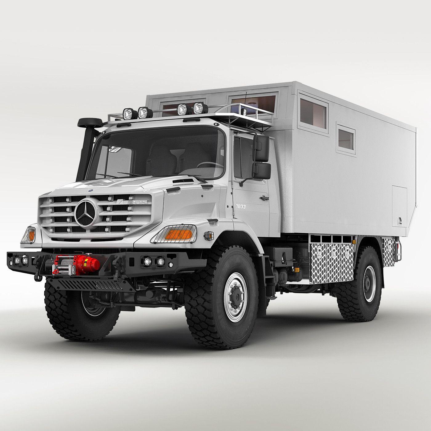 Mercedes zetros home 3d model 10 2 for Mercedes benz 4x4 truck