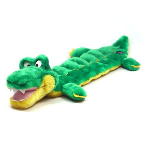 Kyjen Plush Puppies Squeaker Mat Long Body Gator Dog Toy With 16