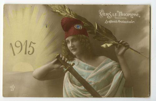 WWI-ww1-First-World-War-One-First-1915-Patriotic-French-photo-postcard