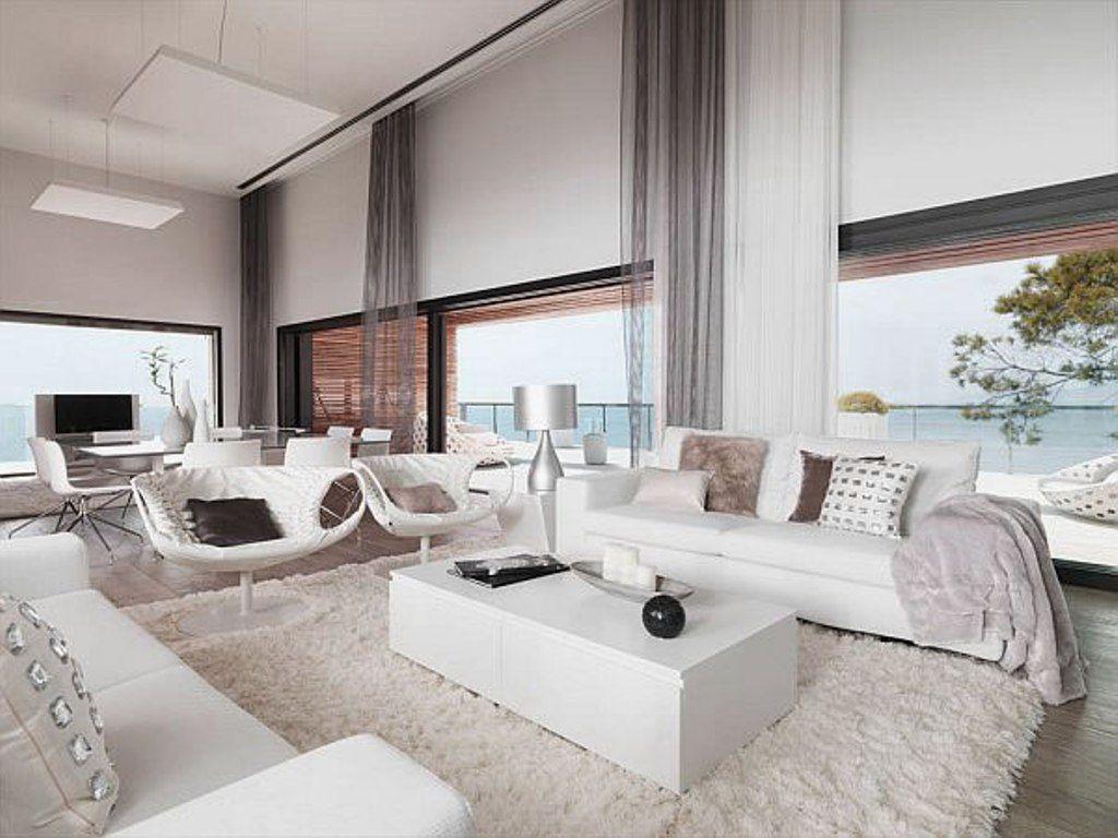 Living Room: Comfortable Fur Rug For Modern Living Room Decorating ...