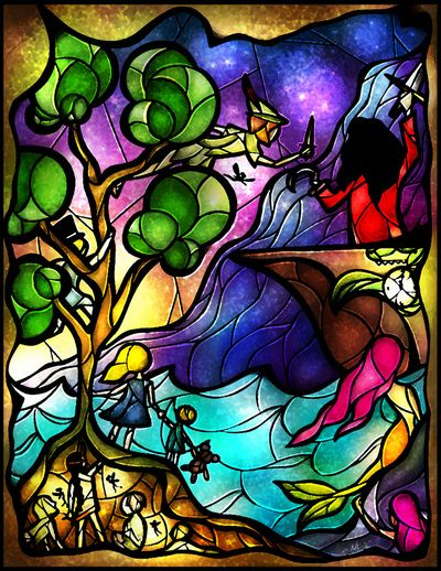 a peter pan stain glass window in my future home