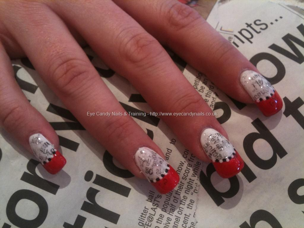 Newspaper print nail art | Nueva nails | Pinterest | Newspaper ...