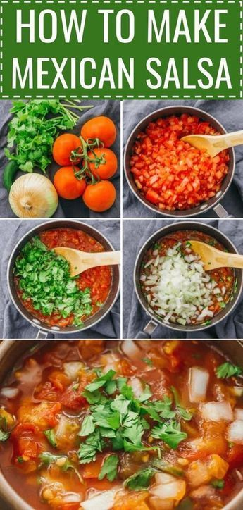 How To Make Mexican Salsa - Savory Tooth #authenticmexicansalsa