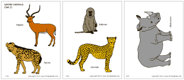 Printable Safari And African Savanna Animals African Savanna Diorama Instructions Here Http Www African Savanna Animals Savanna Animals African Animal Art