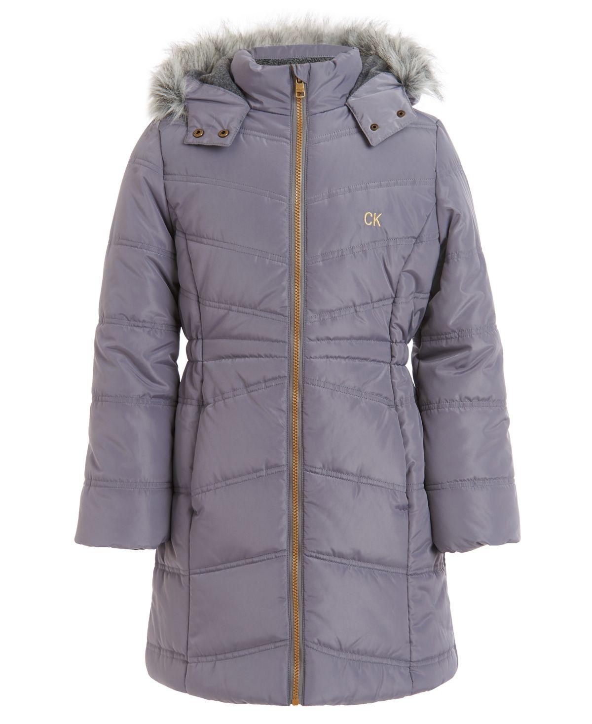 Calvin Klein Toddler Girls Aerial Hooded Jacket Dark Grey In 2021 Calvin Klein Girls Kids Coats Girls Puffer Coat [ 1467 x 1200 Pixel ]