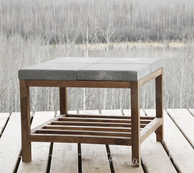 Ana White | Concrete Paver Outdoor Coffee Table - DIY Projects