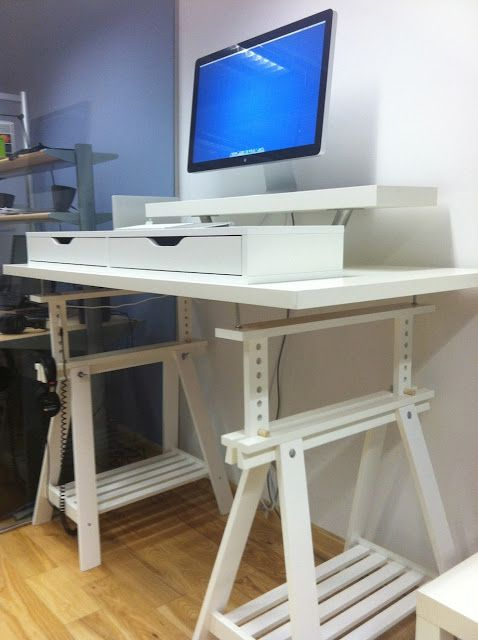 Corner Extra Tall Standing Desks Ikea Hackers Tall Standing