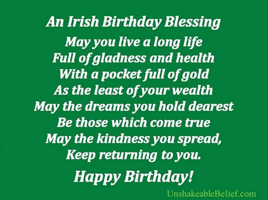 Irish Birthday Wish