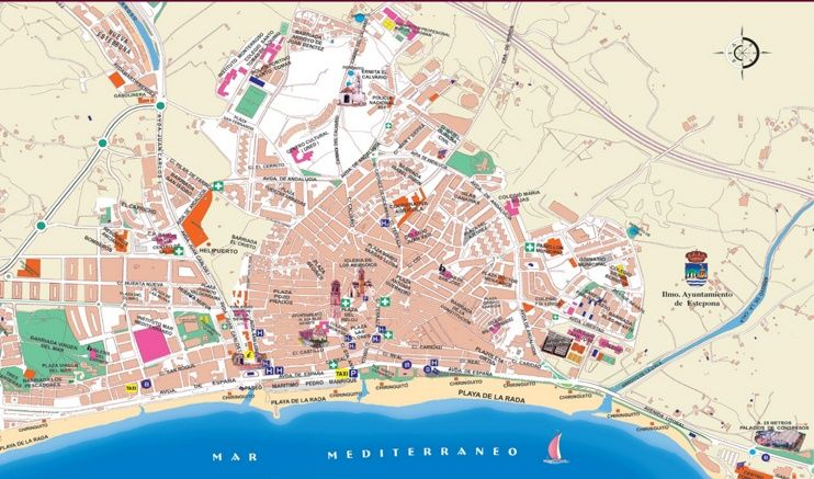 Carte Touristique D Estepona Estepona Map