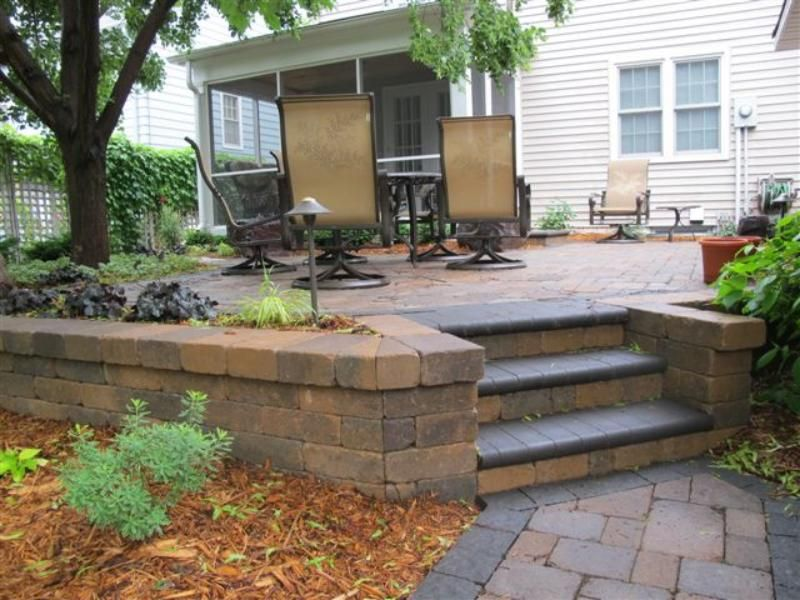 Brick Paver Patio And Retaining Walls Replacing Old