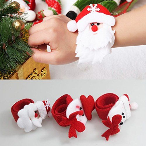 Cute Christmas Mixed Characters Plush Slap BraceletsNapking