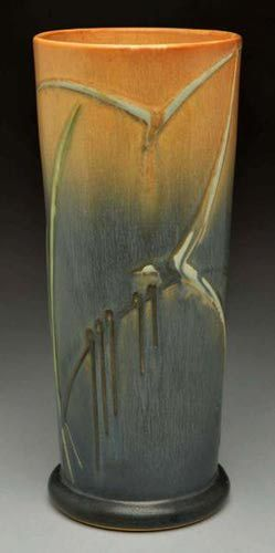 Roseville Pottery Price Guide: Roseville Futura Seagull Vase