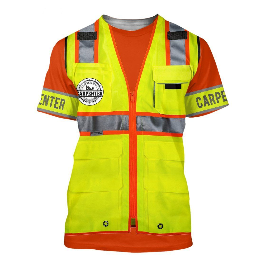 Premium Custom Name Carpenter 3D All Over Printed Unisex - T-shirt / XXL