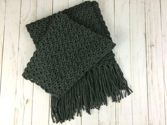 Simple Scarf For Men Free Crochet Pattern Free Crochet Scarves