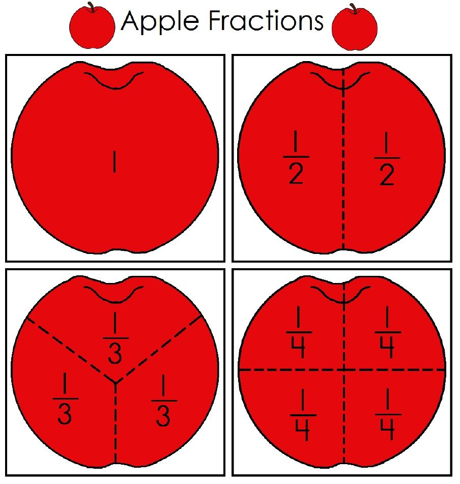 apple fractions scribd education pinterest math Black and White Printable Numbers Number 5 Clip Art Black and White