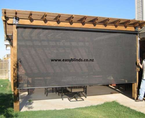 Outdoor blinds nz pvc outdoor roller blinds privacy for Exterior roller shade