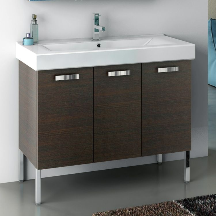 Charmant Bathroom Vanity, ACF C16, 40 Inch Vanity Cabinet With Fitted Sink C16