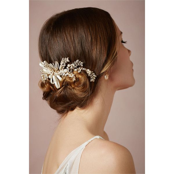Effortlessly Chic Wedding Hairstyle Inspiration - MODwedding ❤ liked on Polyvore featuring round wedding rings, round ring, wedding rings, wedding jewellery and wedding jewelry