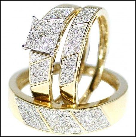 Woman And Man Wedding Ring Sets Wedding Rings Sets Gold Cheap