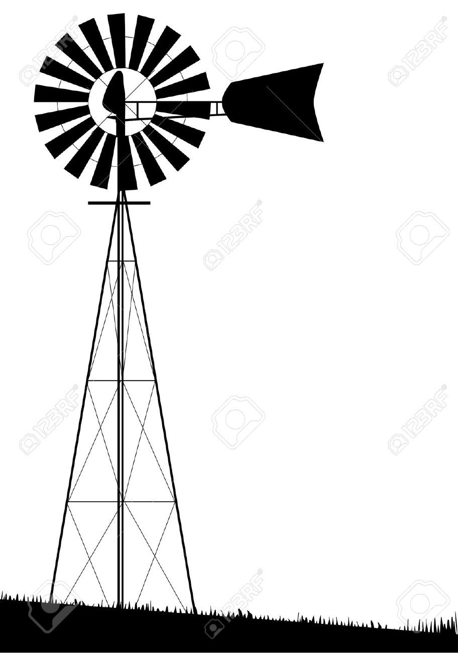 image result for windmill silhouette guest room picture project