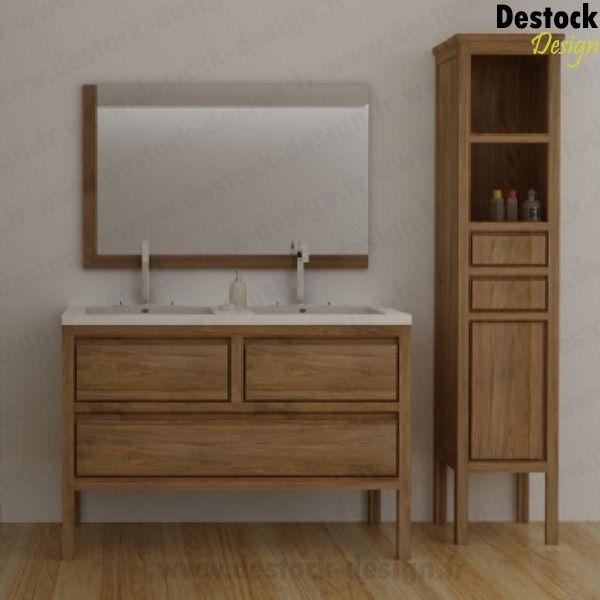 Meuble salle de bain NUDE 120 CM sdb Pinterest