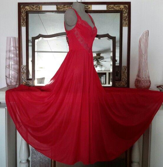Vintage Red Olga Gown
