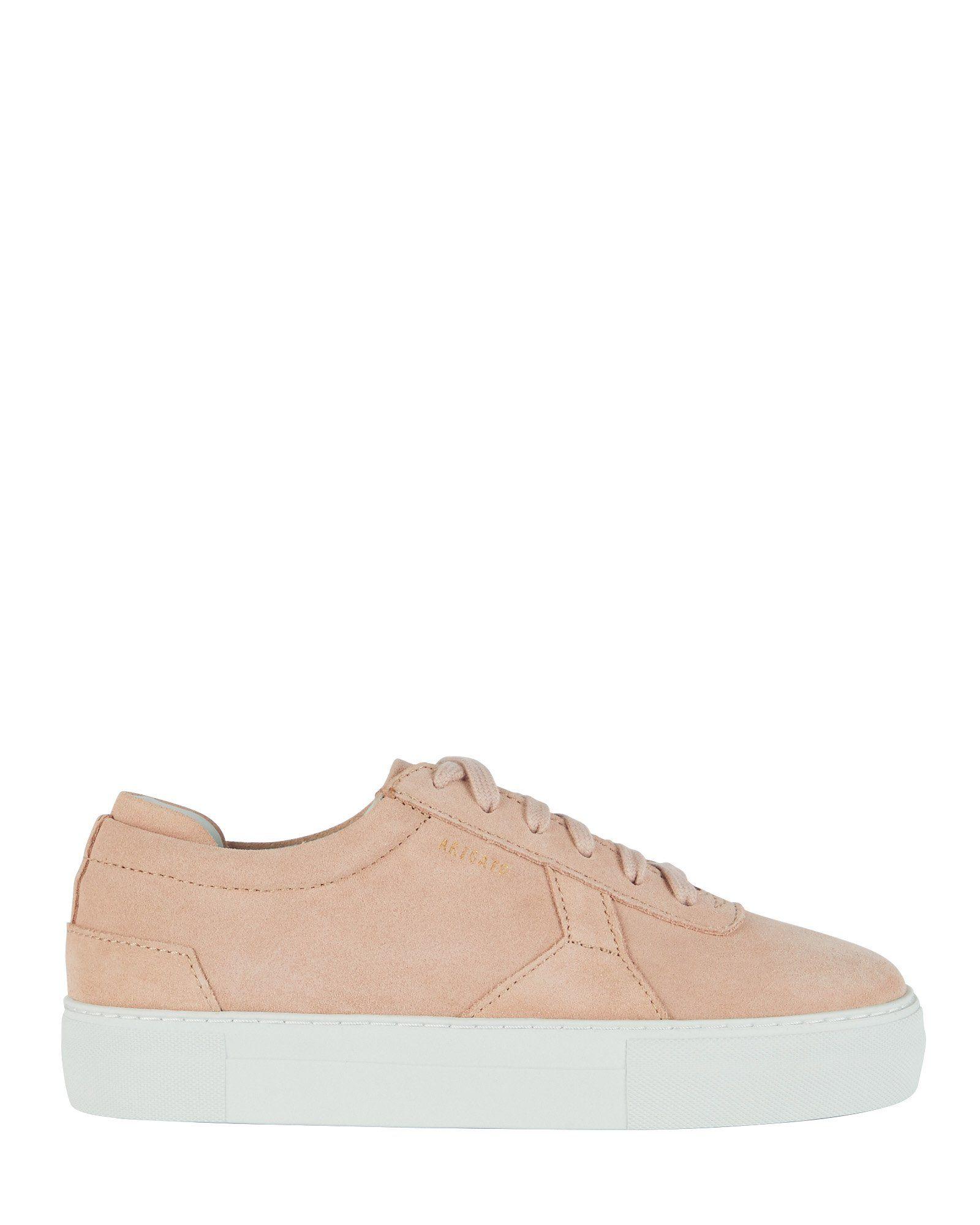Axel arigato platform lowtop suede sneakers in pink