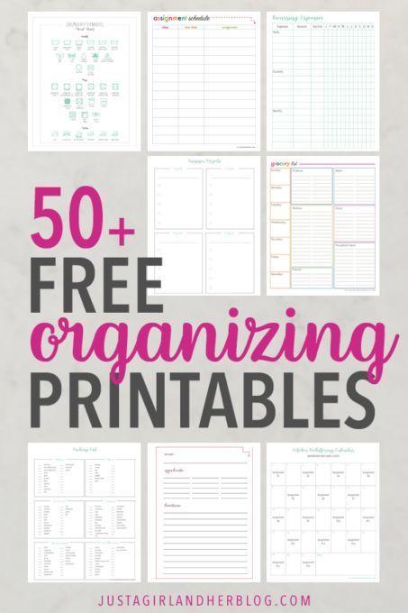 Photo of Free Printable Library | 50+ Free Organizing Printables :  Free printable calend…