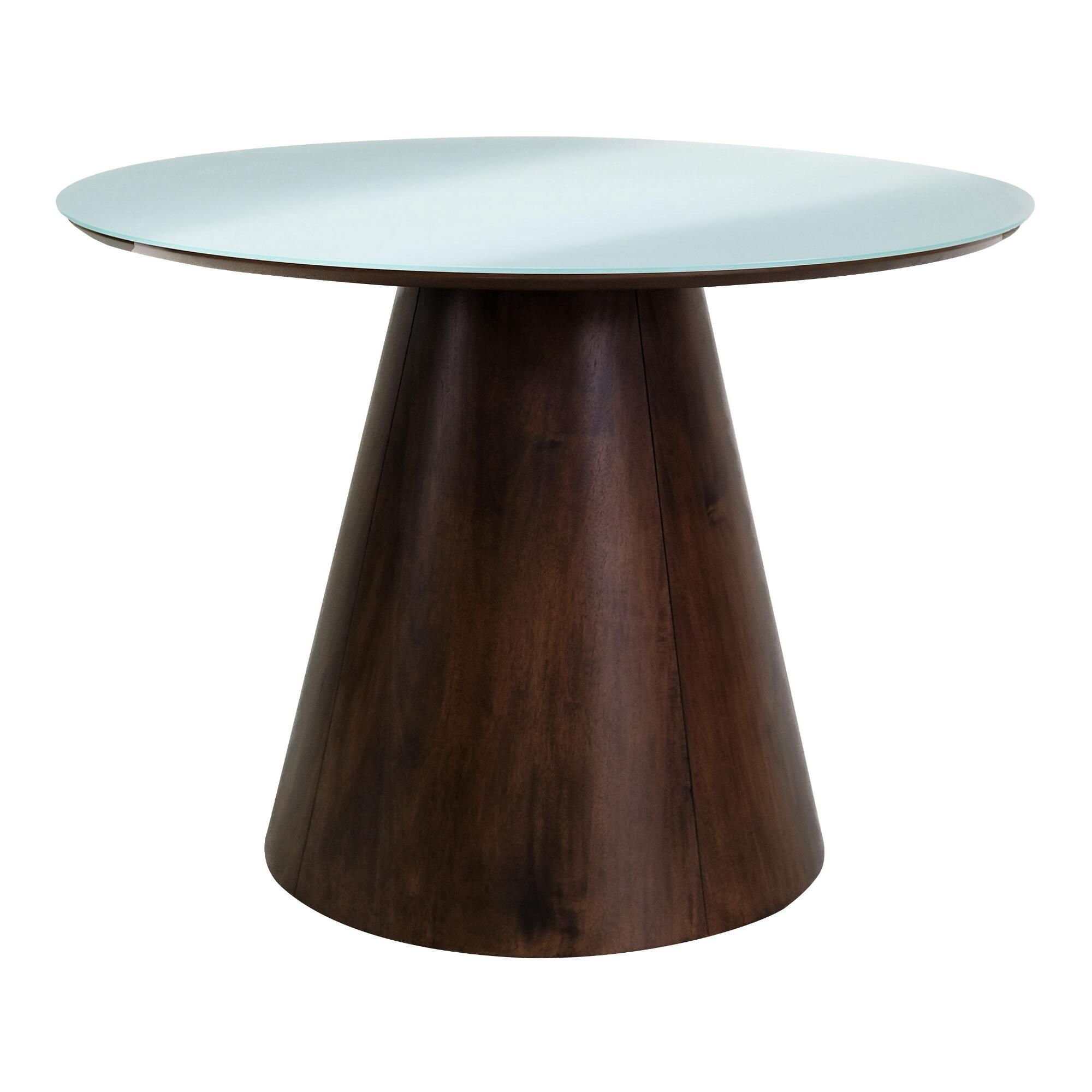 Round Frosted Glass Top Ophelia Dining Table Brown White Natural Wood By World Market In 2021 Dining Table Glass Round Dining Table Modern Round Kitchen Table [ jpg ]
