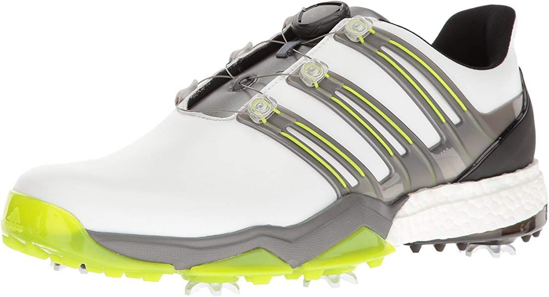 922a312eb914c Amazon.com | Adidas Powerband BOA Boost Golf Shoe, White/Iron ...