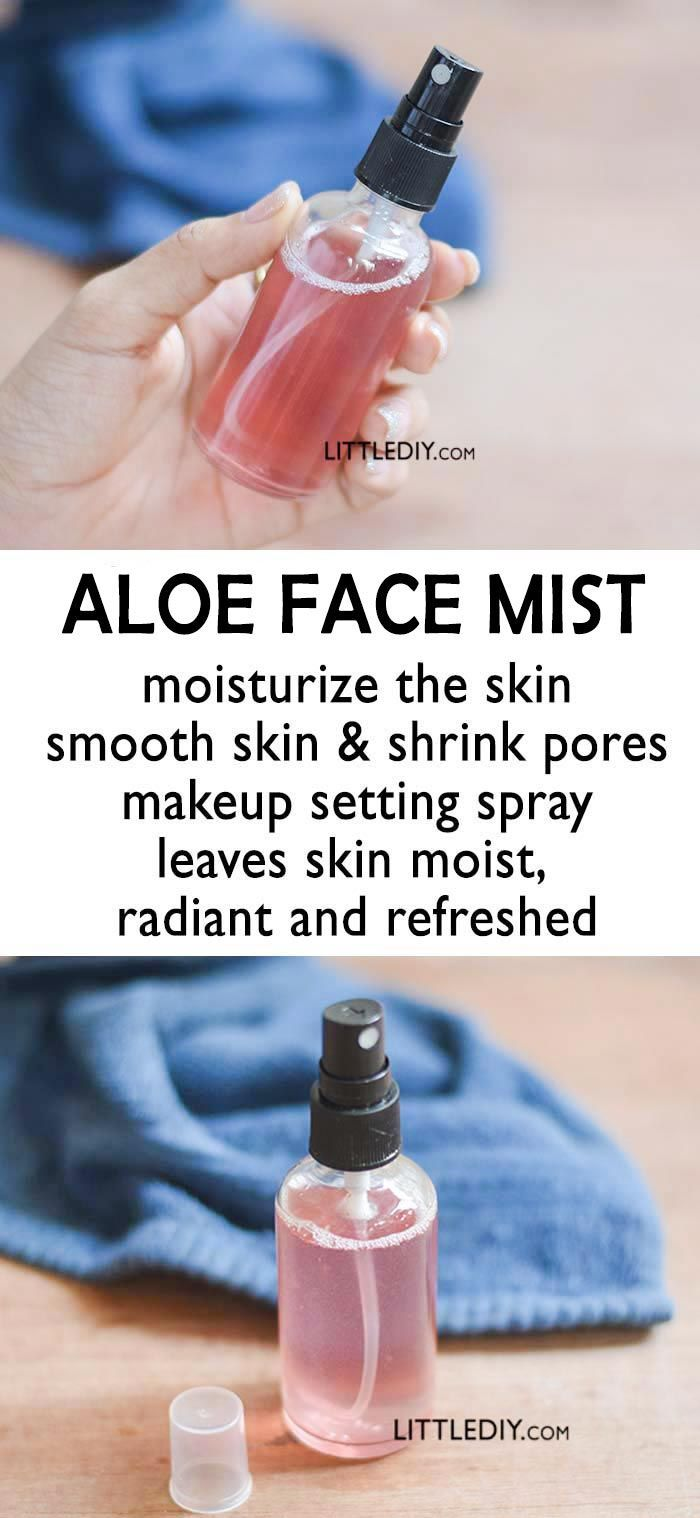ALOE FACE MIST TO SHRINK PORES and SMOOTH SKIN -   14 skin care Pores beauty secrets ideas