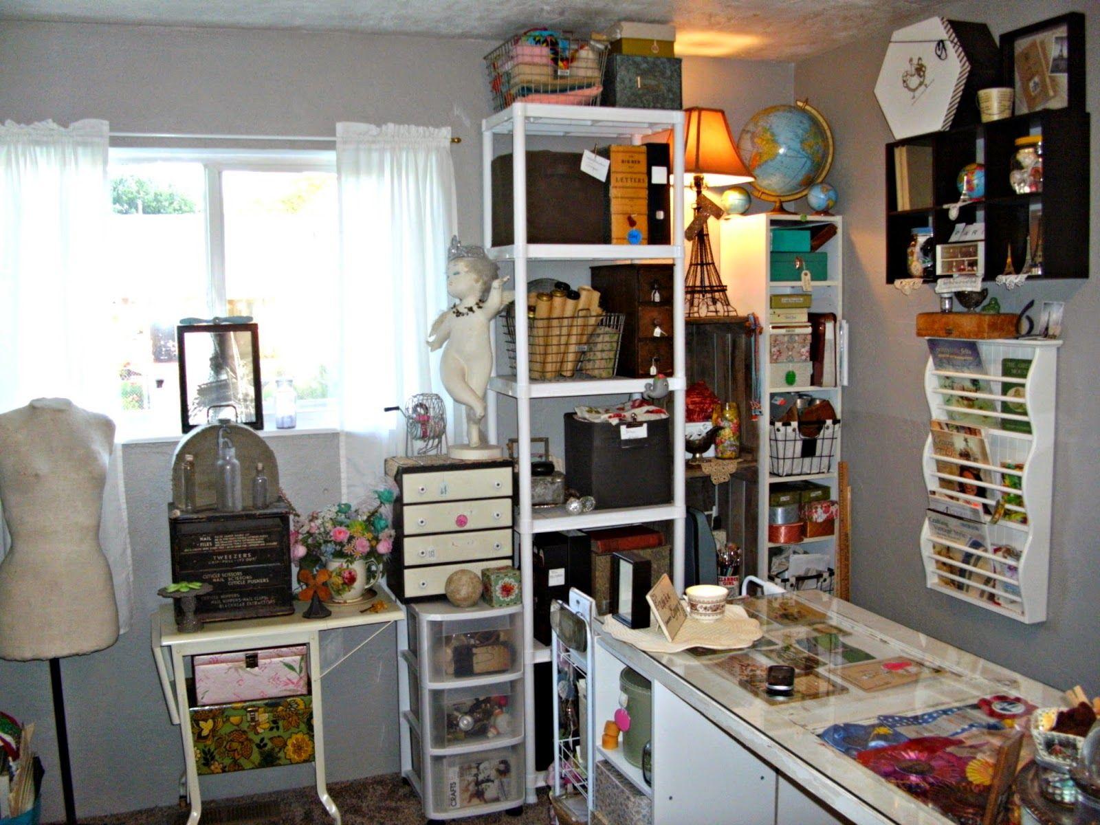 Little Vintage Cottage Craft Studio Tour New Crafts Diy Home