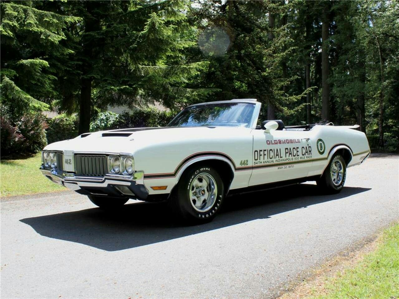 1970 olds 442 convertible pace car