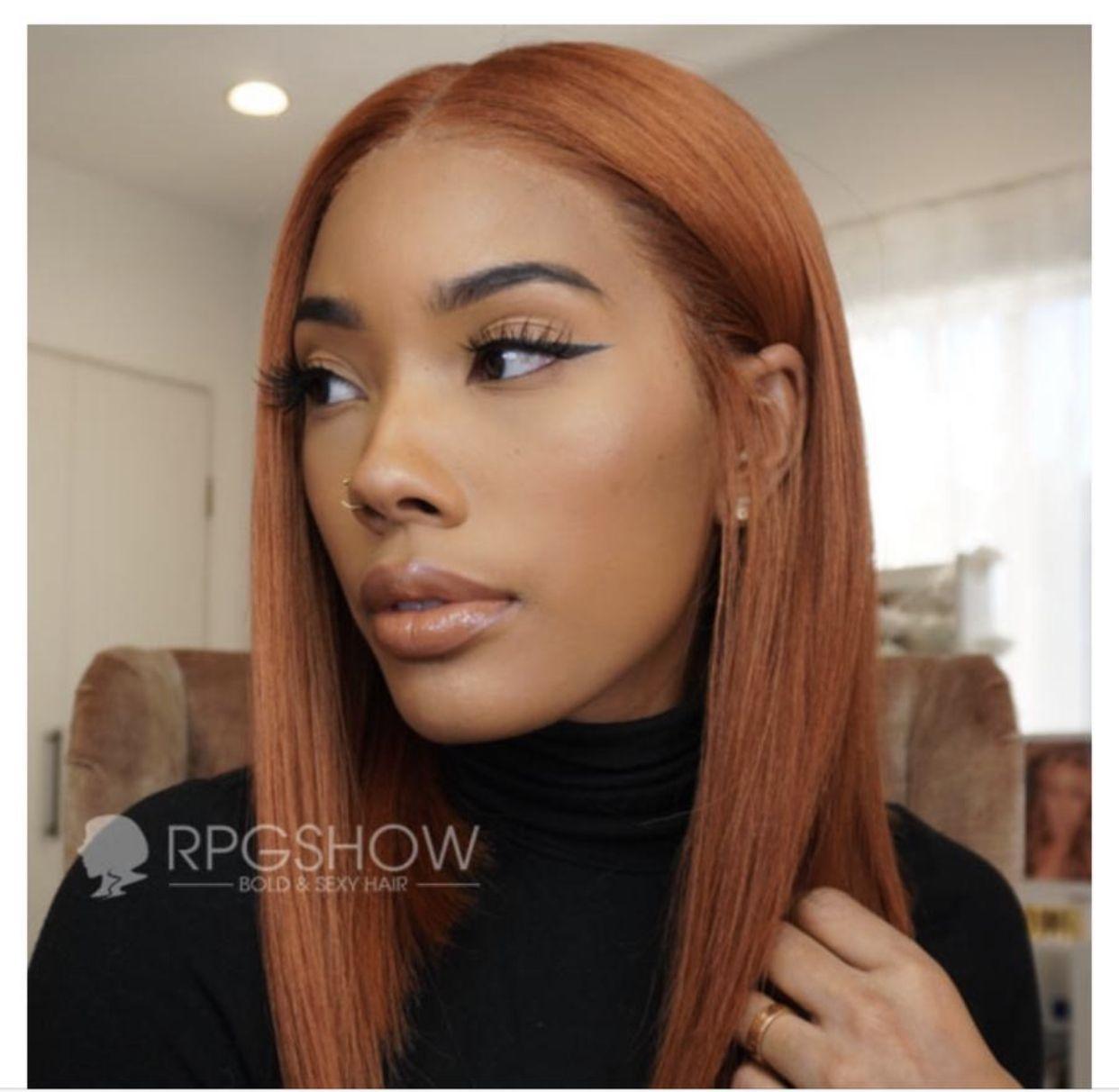 Ginger/Auburn hair color for black women ✨   Hair color for black ...