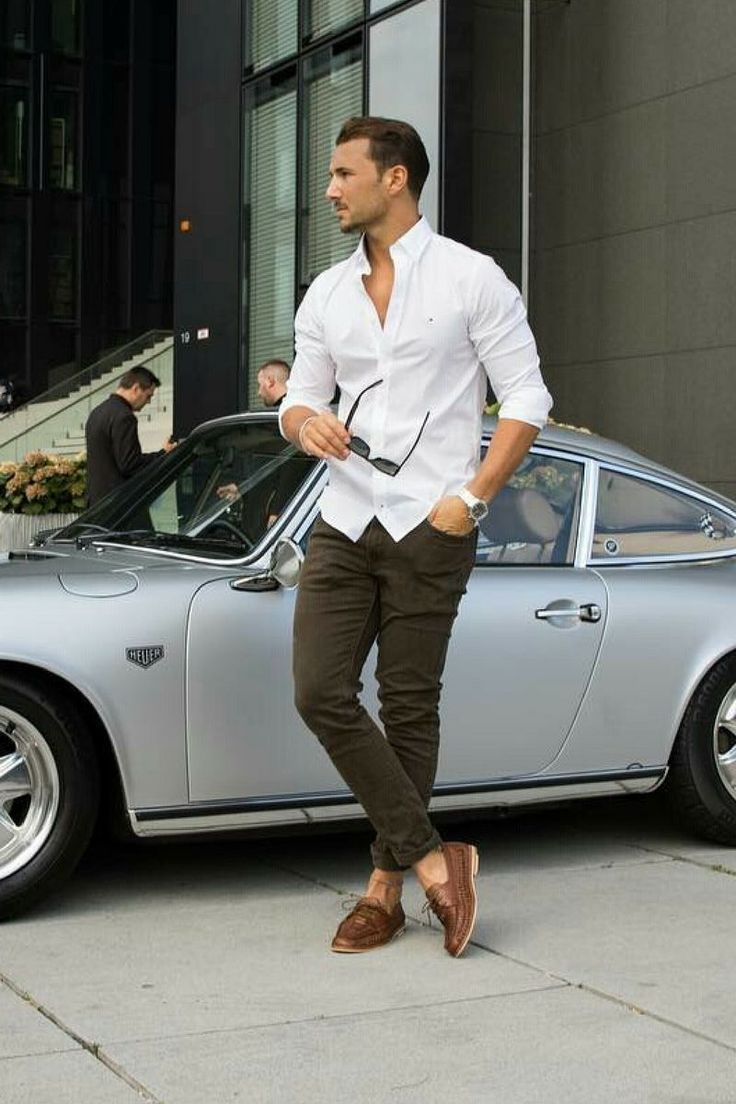 Casual Shirt Outfits For Men #businesscasualoutfits