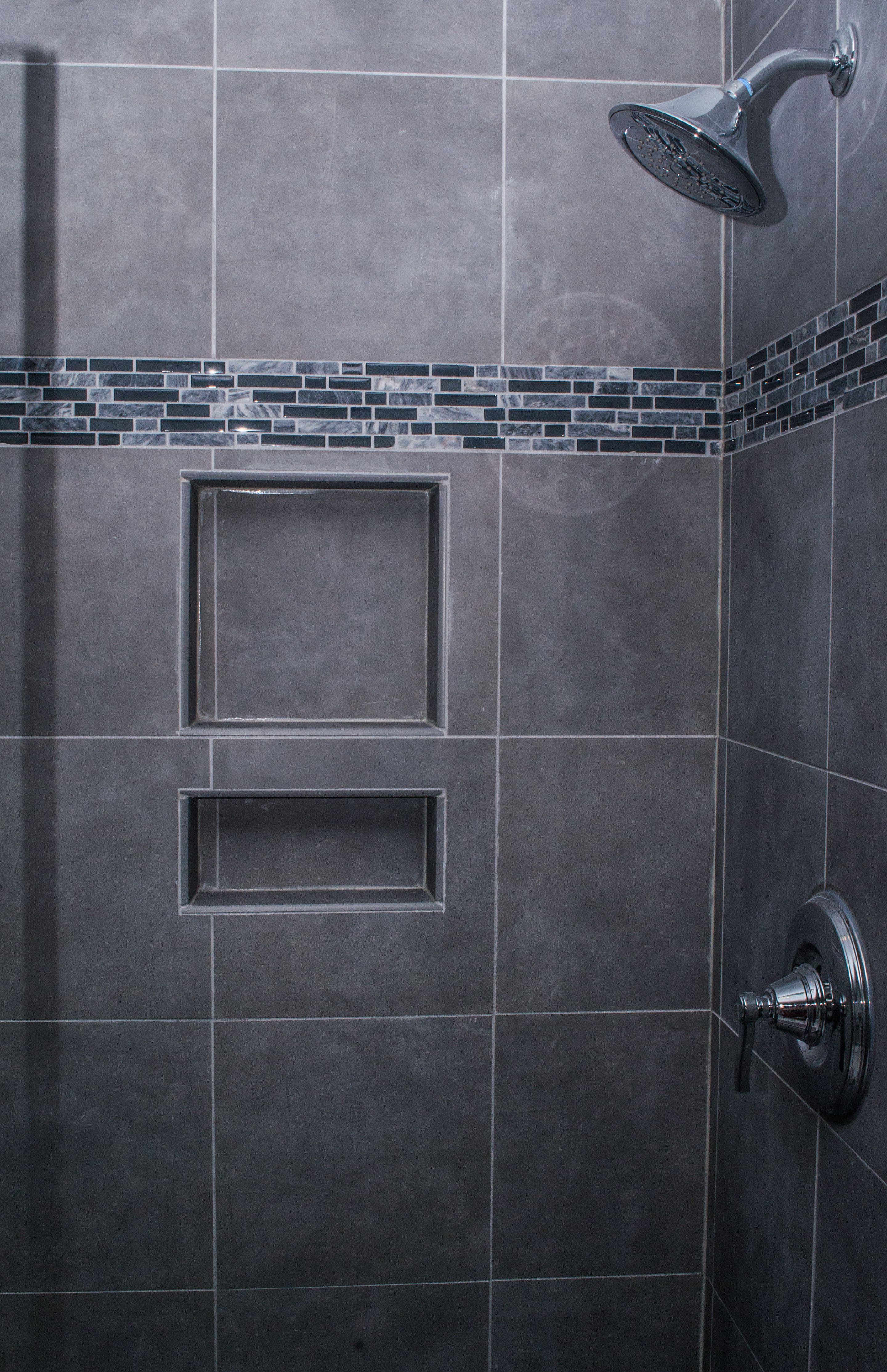 Grey Tile Bathroom Gray Shower Tile For A Refined Feel  Gray Matters  Pinterest