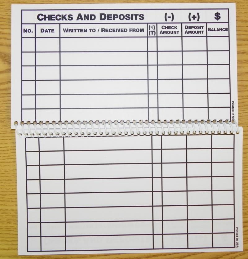 Charming Large Print Check Register Printable Budget Printables