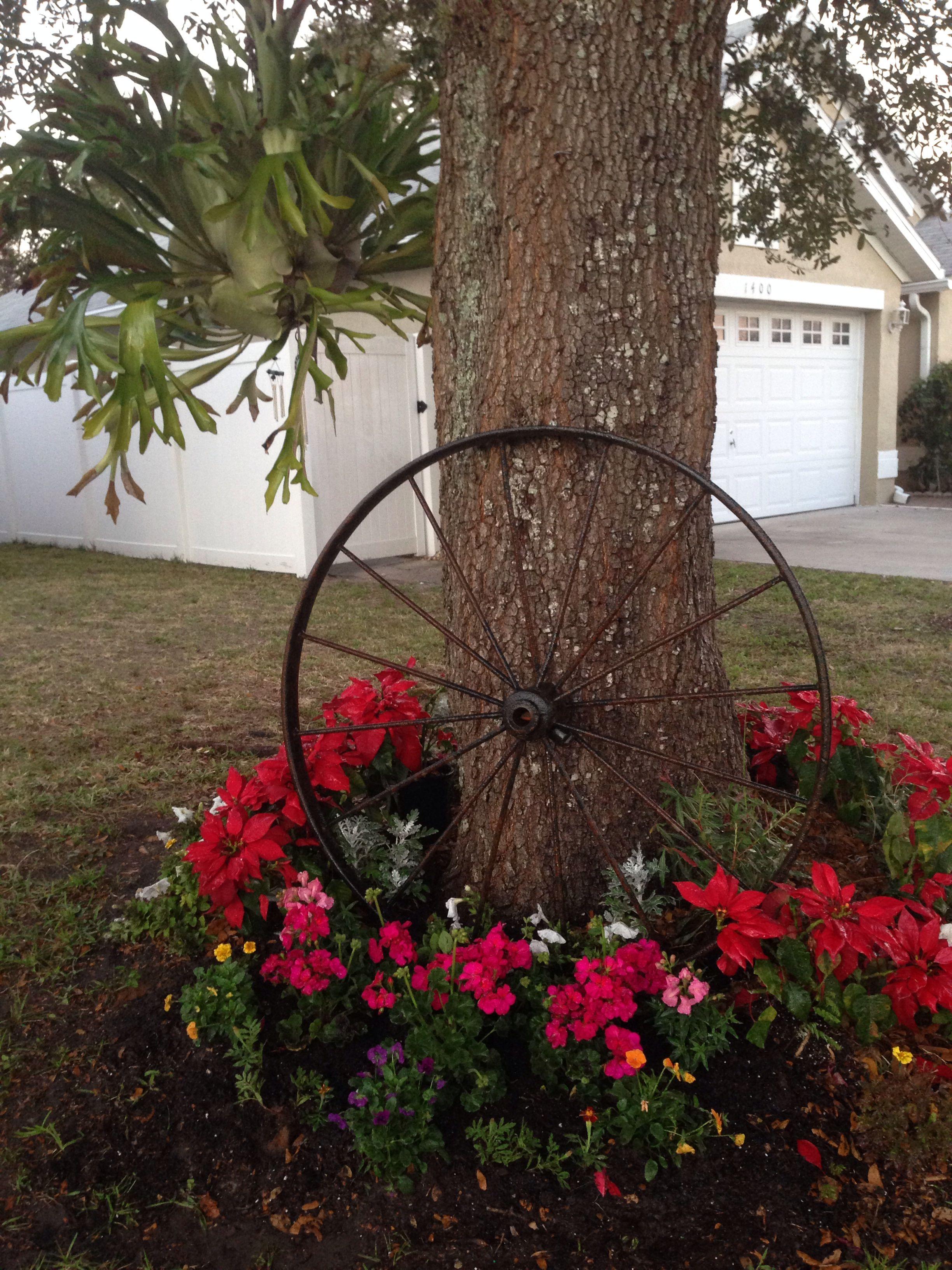 My Garden Wagon Wheel Jardinería en macetas, Ideas de