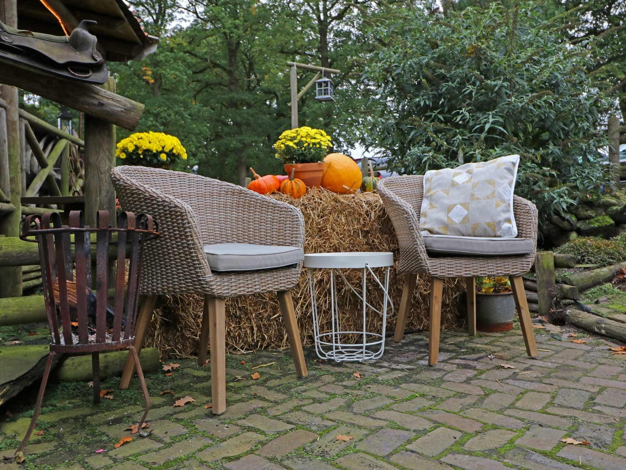 Dining Stoelen Tuin : Deze wicker dining tuinstoelen in de kleur grijs is een heus plaatje