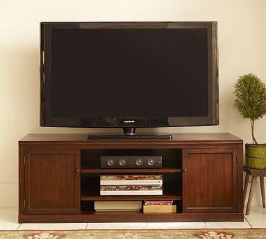 Logan Large Tv Stand Large Tv Stands Tv Stand Pottery Barn