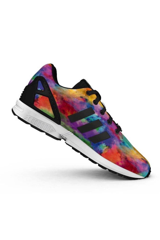 Adidas Originals ZX Flux K Multicolored Low Top Sneakers