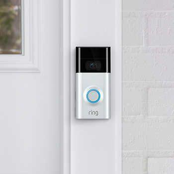 ring sonnette video doorbell 2 avec carillon en prime et abonnement de 1 an au service d. Black Bedroom Furniture Sets. Home Design Ideas