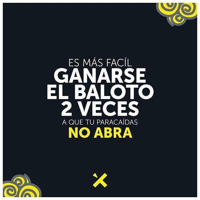 ¿Y todavía lo estás pensando? 😅 ¡Anímate a vivir esta experiencia y comprueba lo segura que es! ☝👍✖️ #SaltaSeguro #SaltaConXielo #SkyDiving #Flandes #Colombia