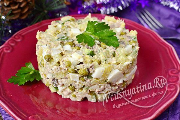 салат с сардинами в масле