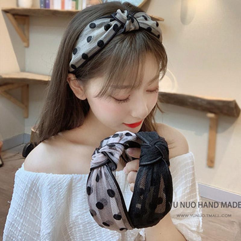 Women/'s Ear Hairband Wide Bow Knot Headband Fabric Hair Hoop Headware Fashion