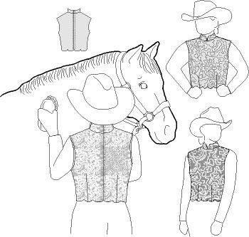 Womens & Girls Back Zipper Lace Show Vest Pattern