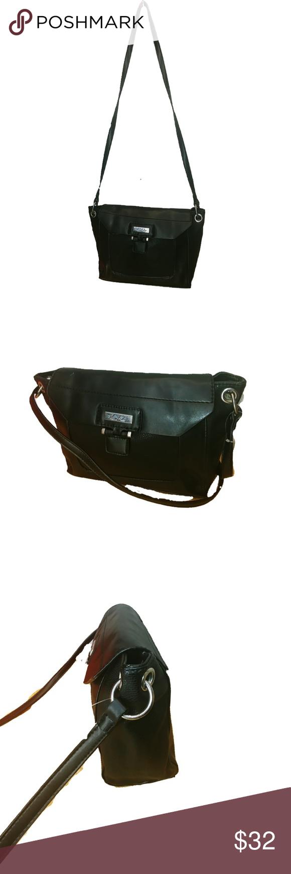 Mark Fisher Shoulder Bag Leather Color Black Silver Hardware