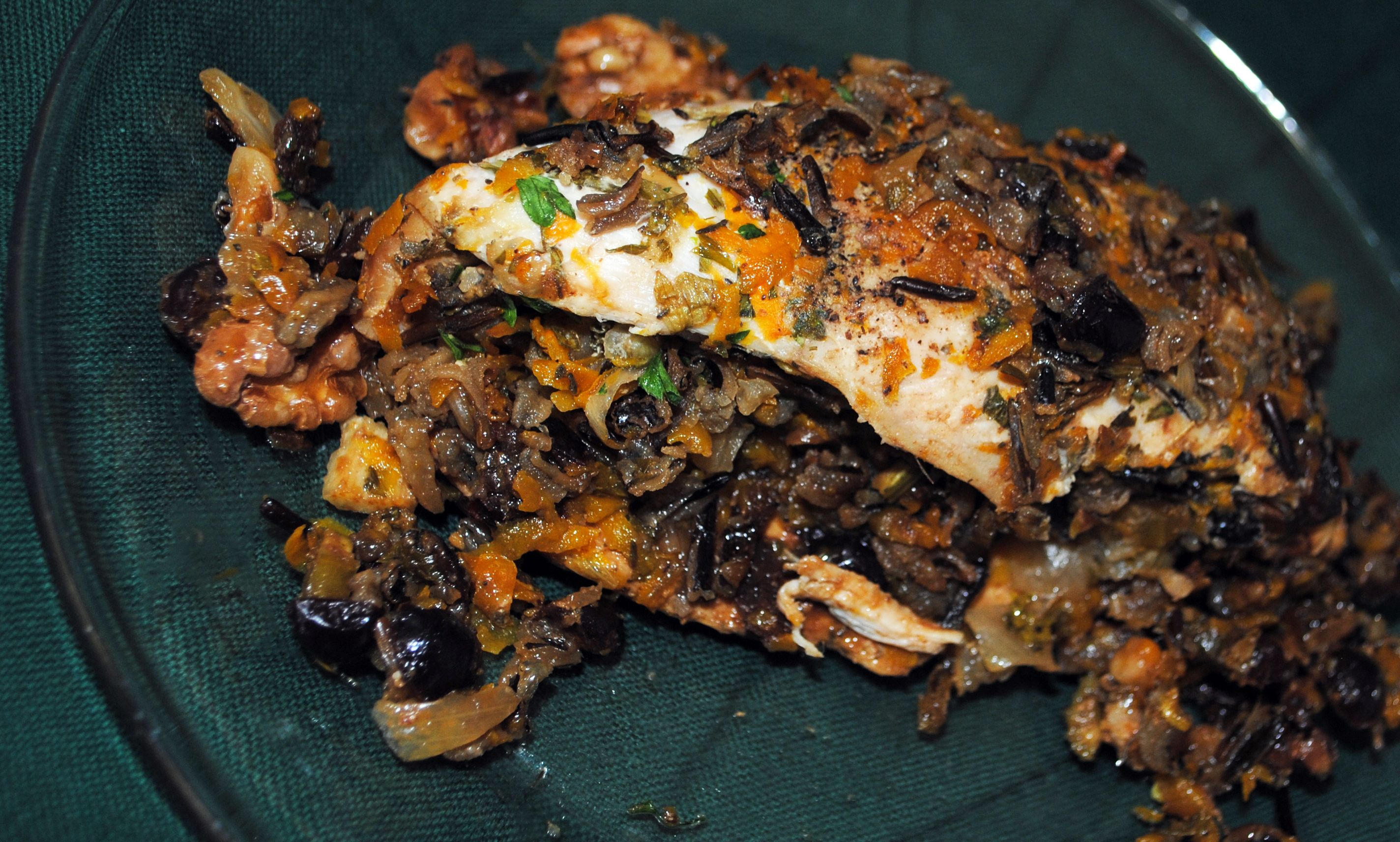 Wild Rice and Squash Stuffed Chicken Breasts Food