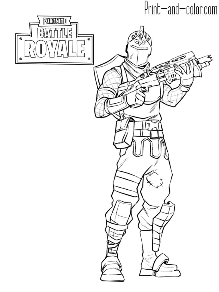 Drawing Fortnite Knight Print Black